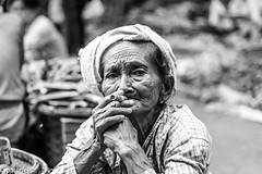 Old woman smoking a cigar (cheroot) - Bagan, Myanmar (patuffel) Tags: bagan myanmar cigar old woman lady burma cheroot leica 50mm summicron potrait