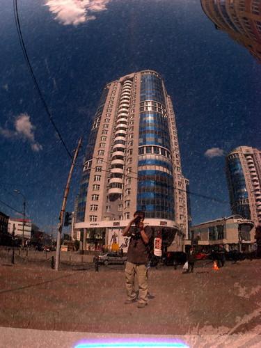 Отражение в каменном шаре ©  ayampolsky