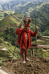 IMG_7073 (waynetywater) Tags: feathers bird monkey warrior oldpeople adventure ngc tropical mountains luzon island 6d 24mm105mm canon culture blue red native philippines tribe tribal tree old primitive