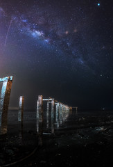 Lover Bridge (Ah Wei (Lung Wei)) Tags: beach defish fisheye georgetown georgetownpenang gertaksanggul landscape malaysia milkyway nature penang penangisland pulaupinang samyang samyang12mmf28edasncsfisheye samyang12mmf28 bayanlepas my