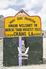 Chang La sign (bag_lady) Tags: ladakh roadsidesign changla mountainpass jammuandkashmir india pangonglakeroad mountain sign
