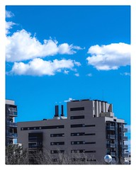 Blue Sky Above The City (Noelgar99) Tags: desatured natural green house city landscape skyscape sabadell architecture sky blue