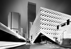 The Streaking Broad (ADW44) Tags: thebroad losangeles california bus monochrome architecture artmuseum fineart longexposure downtown canon5dmarkiii city skyline reallyrightstuff rrs bw blackandwhite leefilters