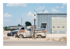 Out of business (philippe*) Tags: closed business garage route66 classiccars wrecks decay texas