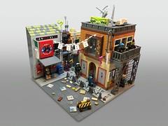 Insomnia City (lego.insomnia) Tags: lego legomoc cyberpunk build minifigures legominifigure city