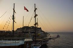 IMG_4145 (gungorme) Tags: nature landscape sunset color colors flag turkishflag boat boats sea mediterranian doğa tabiat tekne bayrak deniz akdeniz günbatımı aydın kuşadası turkey türkiye travel seyahat yaz
