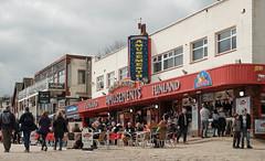 Funland amusements (DWTait) Tags: filey england unitedkingdom gb seaside beach cobbles people amusements tuesday classicchrome xpro2 fuji northyorkshire