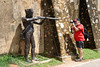 Fort Galle 01 (mpetr1960) Tags: galle srilanka photographer people sculpture gun shot red man nikon d810