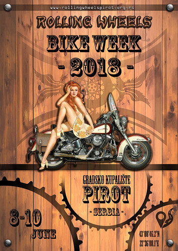 "Plakat Rolling Wheels Bike Week 2018 • <a style=""font-size:0.8em;"" href=""http://www.flickr.com/photos/156470846@N06/41347704441/"" target=""_blank"">View on Flickr</a>"