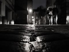 C'était une nuit sombre et orageuse (eric_marchand_35) Tags: rennes rennesmetropole bretagne nuit night pluie rain street pavement bw