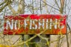 No Fishing! (Coisroux) Tags: signs decay metal trees branches embankment rust d5500 nikond spring2018 flickrheroes