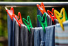 6/118 - Obsession (PaulE1959) Tags: 6118obsession 6118 obsession washing clean dry colourful bokeh washingline yellow orange green clothes nikon d5200