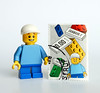 Me on stamp (Vanjey_Lego) Tags: lego minifig minifigs minifigure minifigures stamp