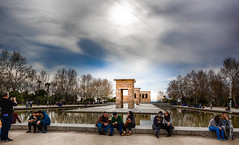 Templo de Debod (Lucien Schilling) Tags: abu god tree state high aswan temples water donated del comunidaddemadrid clouds cloud buildin royal dam ancient parque oeste spain palace debod 1968 es sky architecture madrid simbel amun temple templo egyptian