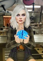 """I'm already dead, yeah!"" (carol.newall) Tags: izombie zombie dead bluebrain lab morgue liv truth secondlife mesh fashionnatic photoshop series"