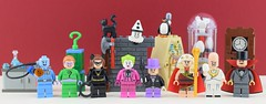 ❄️Old villains⏰ (Alex THELEGOFAN) Tags: lego legography minifigure minifigures minifig minifigurine minifigs minifigurines movie tv show series villain villains batman bat classic 60s sixties egghead thejoker penguin the riddler mr freeze catwoman king tut clock