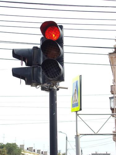Светофор с металлической сеткой ©  ayampolsky