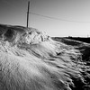 Frozen Water (trainmann1) Tags: nikon d7200 18200mm amateur handheld chambersburg pa pennsylvania marion newfranklinroad bw blackwhite blackandwhite desaturated tree trees road countryroad winter snow spring march 2018 telephonepole poles wires