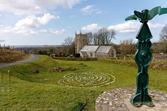The Sourton Labyrinth (doublejeopardy) Tags: devon dartmoor labyrinth graniteway sourton church cycletrack england unitedkingdom gb dof