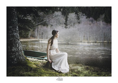 Soledad (nicolas.astruc12) Tags: model people girl dream forest nature naturewatcher france aveyron shooting portrait water lac reflection tree arbres colors printemps spring dress nikon d800 simplicity sigma sigmafrance 35mm 35mm14art 14