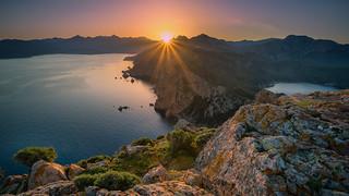 lever de soleil au capo rosso (1 sur 1)
