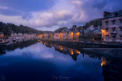 Dinan-Sunset (rafaberlanga) Tags: azul olympus mzuiko night dusk architecture reflection town water sunset travel famousplace tourism outdoors twilight europe house cityscape traveldestinations urbanscene cultures scenics brittany france dinan outdoor river village tourist reflex street charm buildings houses rustic old medieval structures