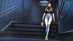877 (Tomomi alpaca Homewood) Tags: taikou villena luxe taketomi kustom9 majesty subway stairwell backdrop purepoison