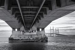 Severn Bridge (FTonyC) Tags: blackandwhite monochrome slta99v severn riversevern severnbridge bridge architecture structure severnbeach crossing river