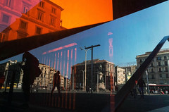 **** (valeriat13) Tags: streetphotography street reflection people candid shadow composition ricoh colors