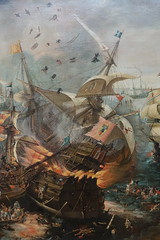 "Detail of ""The Explosion of the Spanish Flagship during the Battle of Gibraltar"", c.1621, oil on canvas (Sparky the Neon Cat) Tags: europe netherlands north holland amsterdam rijksmuseum museum art gallery painting explosion spanish flagship battle gibraltar van wieringen"