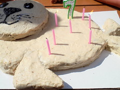 DSC02287 (classroomcamera) Tags: cake cakes seal seals sea lion lions candle candles 7 seven pink green tan brown chocolate vanilla flap flaps flapping tail tails face faces mouth mouths eye eyes nose noses whisker whiskers smile smiles smiling happy birthday birthdays birthdates birthdate shadow shadows day daytime outside outdoor outdoors party parties song songs singing sing sings