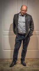 Chris (Robert Borden) Tags: portrait person people man friend chris toocoolforschool leatherjacket santaclarita la losangeles socal california west usa northamerica 50mm 50mmlens fuji fujifilm fujixt2 fujifilmxt2 doorway one alone artist