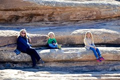 Sue & The Kids Taking A Rest On The Slickrock Trail (Joe Shlabotnik) Tags: proudparents nationalpark utah violet sue 2017 canyonlands everett november2017 canyonlandsnationalpark afsdxvrzoomnikkor18105mmf3556ged