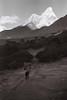Ama Dablam (gryniuk) Tags: nepal nikon pentaxmesuper ilford ilfordhp5 hp5 tengboche everest amadablam sagarmatha chomolungma bnwf film 35mmfilm 35mm