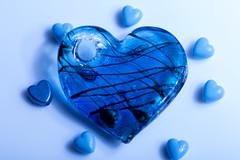 The Blues (Crisp-13) Tags: macromondays macro mondays theblues the blues beads hearts glass