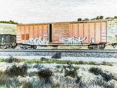 Sidelined (p) (davidseibold) Tags: america benaroad california graffiti jfflickr kerncounty painting photosbydavid postedonflickr railroadcar unitedstates usa bakersfield