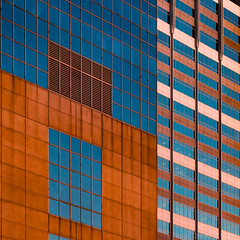 Minneapolis Geometry at Sunset (David M Strom -- Mostly Off and Very Busy) Tags: minneapolis abstract architecture skyscraper windows panasonicg9 minimal davidstrom