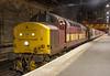37427 Edinburgh 19/05/2005 (Waddo's World of Railways) Tags: 37427 37 374 427 edinburgh class37 tractor growler syphon bontybermo ews 37427bontybermo 1y11 sleeper 1b01 beds edinburghwaverly sleepertrain