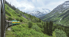 Between The Mountains - Explore (April 9th, 2018 - #187) (TQTran) Tags: whitepassyukonroute whitepass yukonroute train skagway alaska ak traintrack track