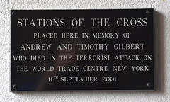 died in the terrorist attack on the World Trade Centre (Simon_K) Tags: kesgrave ipswich suffolk eastanglia stainedglass rope rc roman catholic family artist stained glass windows diocese airship memory memorial