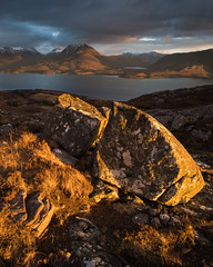 Riven by Time (Greg Whitton Photography) Tags: beinneighe landscape loch seascape sony torridon winter a7rii boulder rock epic sunset beautiful stunning