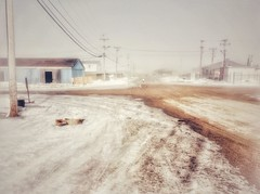 Over the Arctic Circle (ValterB) Tags: nunavut valterb valter scenery trip buildings exposure village town community inuit canada poles snow people road dirt melt slush house houses warehouse electrical wire wires landscape scenic travel building abstract small ipad