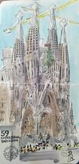 Sagrada Familia (Fotero) Tags: usk urbansketch urbansketcher urbansketching acuarela watercolor dibujo cuaderno cuaderno14 sketchbook sketchcrawl sketchcrawl59 barcelona sagradafamilia iglesia basilica templo arquitectura gaudi modernismo modernism