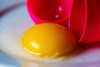 a box without a hinge... (BSchwend1) Tags: plastic macromondays egg food plasticegg pink yellow yolk