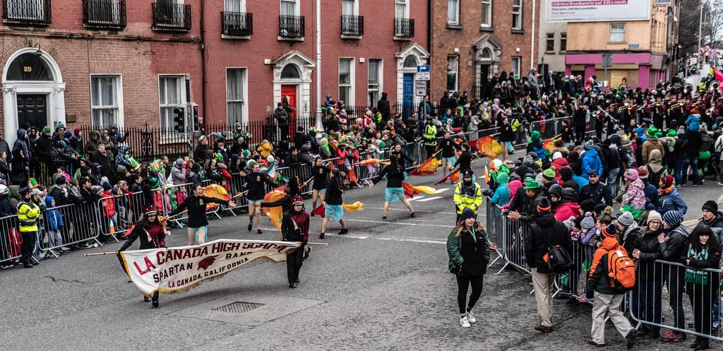 La Cañada High School Marching Spartans[ Patricks Day Parade In Dublin 2018]-137607