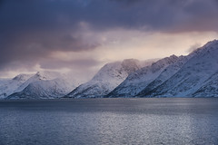 Winter in Norway (Sizun Eye) Tags: north norway snow snowstroms mountains fjord northern winter march sizuneye landscape nikond750 tamron2470mmf28 øksfjord