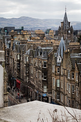 EPMG Edinburgh Cityscapes March 2018-25 (Philip Gillespie) Tags: edinburgh scotland scottish city march 2018 spring buildings architecture scape view roofs chimneys steam trees birds pigeons seagulls views castle ancient museum history sun clouds sky mountains hills churches cathedral people nature mono monochrome black white colour color blue red green yellow orange grey purple wildlife urban canon 5dsr framing framed