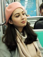 La Parisienne (Shahrazad26) Tags: metro metropolitain paris parijs frankrijk france frankreich jongevrouw youngwoman jeunefemme baret