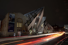 ROM - Toronto (karsten1605) Tags: rom royal ontario museum light trail canon 5d mark ii wide angle 1740 toronto kanada canada libeskind architecture crystal night nacht noche nuit