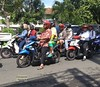 Java East-Malang Scooter Traffic 20171209_093041 LG (CanadaGood) Tags: asia asean seasia indonesia indonesian java eastjava jawatimur malang motorcycle scooter traffic people person canadagood 2017 thisdecade color colour cameraphone javanese green blue